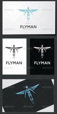 Flyman Universal template logo suitable for a company of any orientation. Contains: EPS, AI, PNG, font file Created: GraphicsFilesIncluded: TransparentPNG Layered: No MinimumAdobeCSVersion: CS Resolution: Resizable Tags: angel Logo Design Template, Logo Templates, Mercury Mythology, Human Icon, Logo Color, Pictogram, Compass Tattoo, Logo Inspiration, Cool Designs