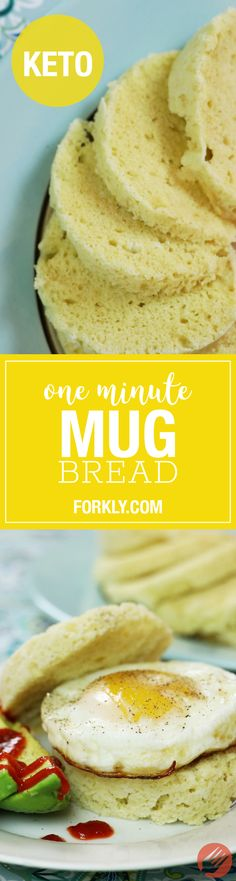 One Minute Keto Mug Bread : made with almond flour (aka almond meal) this recipe is not only low-carb, but packed with the fats & proteins you need on a ketogenic diet. An absolute must try!