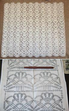 Вязание крючком - Ажурные узоры крючком - Очень красивый узор