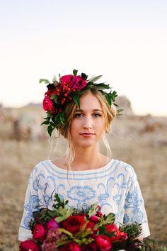 Rich Berry Florals + a boho vibe