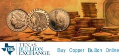 Looking at buying copper bullion? Texas Bullion Exchange offers high quality copper bullion for sale online at incredibly low prices. For more details call (855) 927-5557. For more information visit at https://texasbullion.com/copper