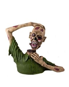 Decapitated head corpse zombie prop