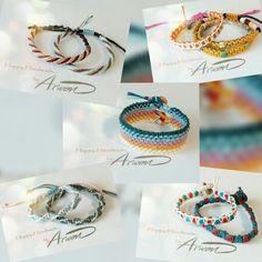 Macrame bracelet. 평매듭 응용 팔찌들.
