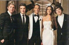 A rare and unseen picture of Harry, Niall and Liam at Marvin and Rochelle Humes wedding!