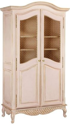 Designer Rooms Bryces Blue Toile Bonne Nuit Grand Armoire with Wire Doors In Versailles Finish at PoshTots Furniture Styles, Accent Furniture, Kids Furniture, Luxury Furniture, Painted Furniture, Stylish Home Decor, Luxury Home Decor, Armoire Antique, Interior Design Guide