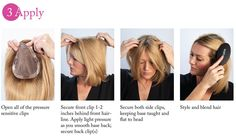 How to apply clip-in hair additions, also known as hair toppers #humanhair #synthetichair