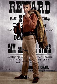"""""""Au nom de la loi"""", avec Steve McQueen, dans le rôle de Josh Randall - Bounty…"""
