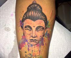 Gratidão, tatuagem aquarela.