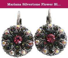 Mariana Silvertone Flower Blossom Crystal Earrings, Green Vitrail Pink 1029 29. About Mariana Jewelry: Mariana believes what music is to the ear, color is to the eye. Her exquisite creations make the woman who wears them glow with confidence and love for life. Since 1997, her exuberant sense of color and unexpected fusion of old and new, crystal and stone, material and spirit, have been the very heart and soul of her creative vision. Mariana jewelry is made with components as varied as…