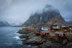 Moskenes Lofoten Islands Norway... Fog over Moskenes