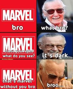 Dec We love and miss you Stan Lee and we know for sure we will never forget you. Dec We love and miss you Stan Lee and we know for sure we will never forget you. Funny Marvel Memes, Marvel Jokes, Dc Memes, Avengers Memes, Disney Marvel, Marvel Dc Comics, Marvel Avengers, Marvel Heroes, Superhero Memes