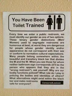 Toilet training for transvestites