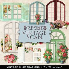 Freebies Vintage Style Windows Kit