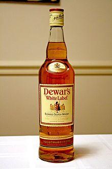 A fifth of Dewar's scotch whisky