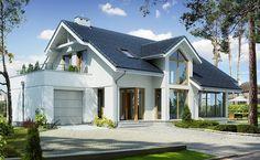 Z Charakterem 4 - wizualizacja 1 - Nowoczesny projekt domu z wejściem od południa przeznaczony na płytką działkę