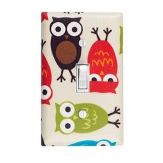 Bermuda Owl Switch Plate, $15, now featured on Fab.