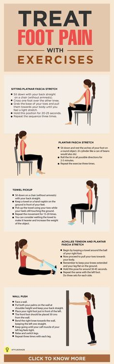 Treat foot pain with exercises