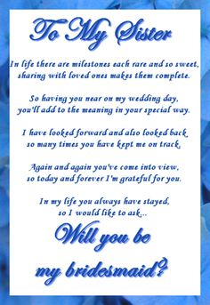 letter to sister on wedding day 1000 ideas about bridesmaid letter on be my 42613