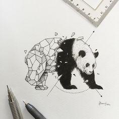 Geometric beasts panda