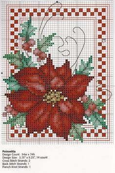 Cross-stitch Christmas Poinsettia... poinsettia-large.JPG (1536×2318) 1 of 2:
