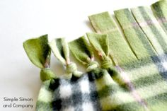 Quick & Easy No-Sew Polar Fleece Wrap Tutorial ~ Need for cool evenings.  Maybe a 6'x2' wrap as a favor?