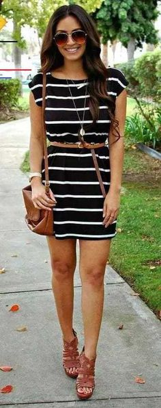 25 Simple and Casual Summer Outfit Ideas to Copy - Wass Sell # semi Casual Outfits ideas 25 Simple and Casual Summer Outfit Ideas to Copy - Wass Sell Cute Work Outfits, Komplette Outfits, Summer Work Outfits, Summer Fashion Outfits, Outfits For Teens, Casual Outfits, Dress Summer, Casual Heels, Outfit Summer
