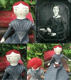 A lovely Emily Dickinson doll by Charis.
