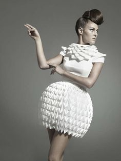 Futuristic Geometric Dresses - These Designs by Mercedes Arocena and Lucia Benitez are Stunning (GALLERY)