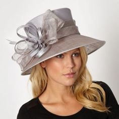 Hatbox Silver feather bow hat- at Debenhams.com