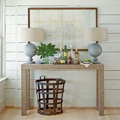 Upholstered Console Table  Custom Built  Design by livenUPdesign, $450.00