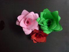 how to make a paper flower ( paper crafts) DIY valentine flower
