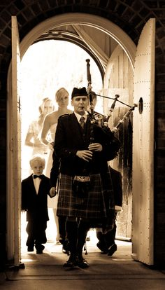 Scottish Bagpipes at a Wedding