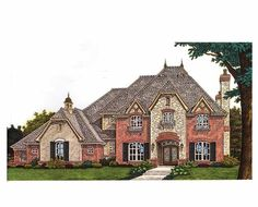 Eplans European House Plan - Four Bedroom European Home - 4214 Square Feet and 4 Bedrooms(s) from Eplans - House Plan Code HWEPL69645