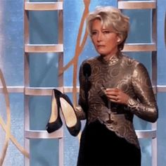 She's single-handedly made it socially acceptable for women to drunkenly toss their heels. | 20 Facts That Prove Emma Thompson Should Be The Queen Of Everything