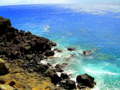 Southern tip of Big Island of Hawaii  The southern-most point in the USA.