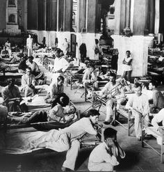World War I, American military hospital in a church in France, ca. 1917