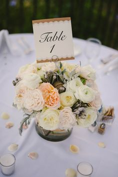 Wedding table number - Vitaly M Photography