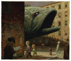 sometimes it's a dog, sometimes it's a bloody great fish!  (Shaun Tan illustrator/author)