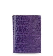 Filofax Flex A5 Blackcurrent Lizard Print Leather Notebook Cover  This one is gorgeous.