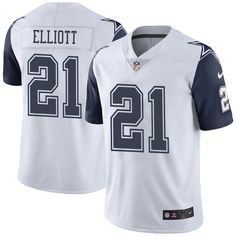 Men s Dallas Cowboys Ezekiel Elliott Nike White Vapor Untouchable Color  Rush Limited Player Jersey 056eba496