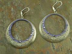 Swarovksi crystal and enamel at large lightweight hoop earrings at adornedbylonnie.com