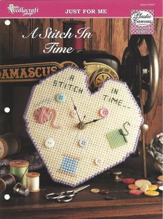 Plastic Canvas Clock Pattern The by KnitKnacksCreations on Etsy