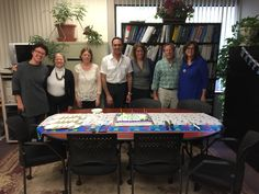 Eddie Aviles, VP of Sales 2016 Birthday with Kat, Jo, Stacy, Patricia, Steve & Ellen...just a few!