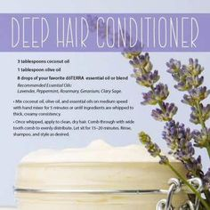 DoTERRA essential oil do-it-yourself deep hair conditioner recipe Source by mahvn Deep Hair Conditioner, Diy Conditioner, Coconut Oil Conditioner, Essential Oils For Hair, Doterra Essential Oils, Doterra Blends, Pure Essential, Hair Mayonnaise, Diy Cosmetic