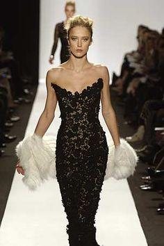 lace black gown