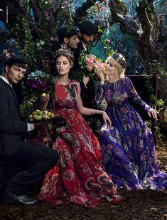 Клаудиа Шиффер в рекламной кампании Dolce&Gabbana осень-зима 2014