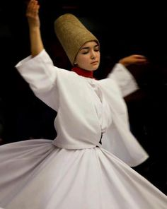 Female Whirling Dervish dancer of Istanbul Rumi Poetry, Whirling Dervish, Dance Movement, Rumi Quotes, Qoutes, Life Quotes, Fred Astaire, People Of The World, Just Dance