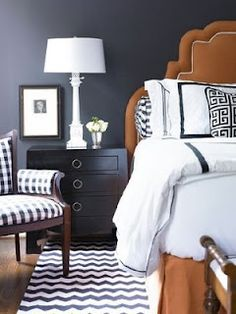 Bed designs, headboards, footstools, armchairs, window treatments, ceilings, pendant light fixtures, flooring, rugs, nightstands and decorating. modern. color. texture. walls.