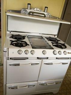 o keefe merritt vintage gas stove top clock timer drop in salt o keefe merritt grillevator stove oven 1950 s