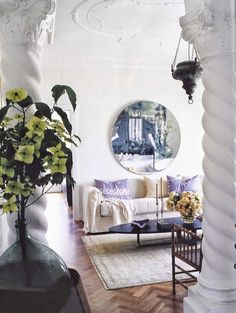 A beautiful and peaceful space with an understated touch of bohemian charm.